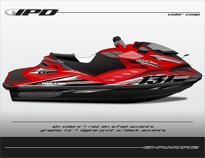 s-GK-PW-RXPX2 (Black Accents on Red Ski, Black Bottom)